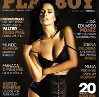 Rita Pereira na capa da regressada Playboy