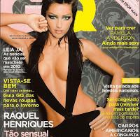 Raquel Henriques na GQ de Agosto de 2005