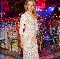 Kylie Minogue numa forma incrível (46 anos)