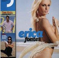 Erica Fontes semi-nua na Revista J