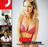 Ana Molisteanu de lingerie na Revista J 244