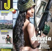 Daniela Vieira despida na Revista J 447