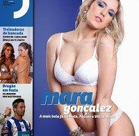 Mara Gonçalez despida na Revista J 245 (topless)