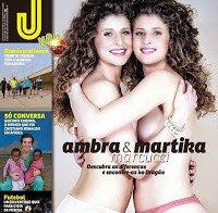 Ambra e Martica (as irmãs Marcucci) despidas na Revista J 448