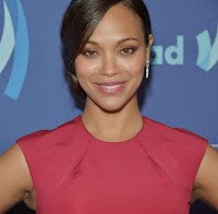 Zoe Saldana nos GLAAD Media Awards em Beverly Hills
