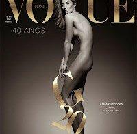 Gisele Bündchen nua (Vogue Brasil 40 anos)