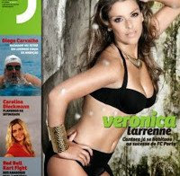As mamas de Veronica Larrenne (topless na Revista J 302)