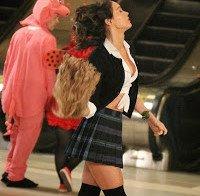 Megan Fox vestida de colegial
