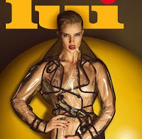 Rosie Huntington Whiteley nua (revista Lui Junho 2015)