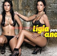 As mamas de Lígia Pereira e Ana Vieira despidas (topless na Revista J 396)