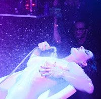 As mamas de Dita Von Teese (topless numa banheira)