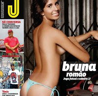 As mamas de Bruna Romão despida (topless na Revista J 468)