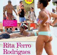 O rabo de Rita Ferro Rodrigues de biquini (praia 2015)