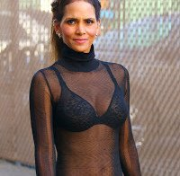 Halle Berry de soutien (top transparente)