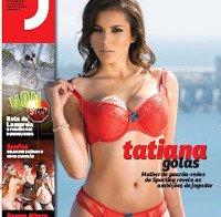 Tatiana Golas despida (lingerie na Revista J 399)