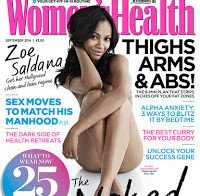 Zoe Saldana nua (revista Women's Health UK 2014)