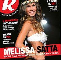 Melissa Satta na capa da Revista R número 7