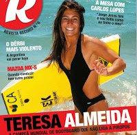 Teresa Almeida de biquini (Revista R número 6)