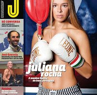 As mamas de Juliana Rocha despida (topless na Revista J 472)