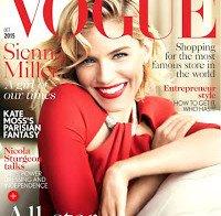 """Sienna Miller capa da Vogue diz estar exausta pela """"maldição de ser mãe"""""""