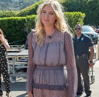 Maria Sharapova vista em Los Angeles