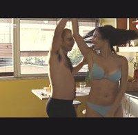 """Adelaide Sousa de lingerie (filme """"Daqui prá frente"""" em 2007)"""