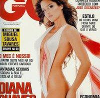 Diana Chaves praticamente nua (revista GQ 2008)