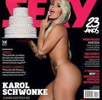 Karol Schwonke nua (Revista Sexy Novembro 2015)