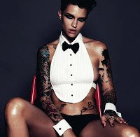 Ruby Rose sensual na GQ