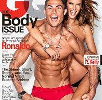 Alessandra Ambrosio e Cristiano Ronaldo na GQ americana