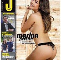Marina Pereira despida (topless na Revista J 487)