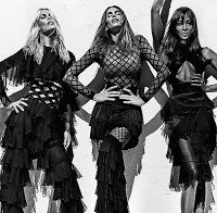 Cindy Crawford, Naomi Campbell e Claudia Schiffer no mesmo ensaio