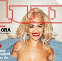 Rita Ora nua? (topless em capa de revista)