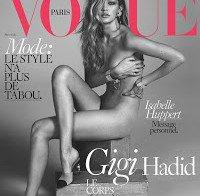 Gigi Hadid nua (Vogue Março 2016)