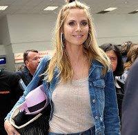 Heidi Klum com roupa transparente