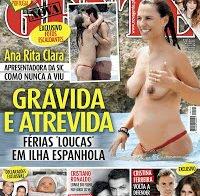 As mamas de Ana Rita Clara (topless em revista)