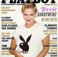 Drew Barrymore nua na Playboy (1995)