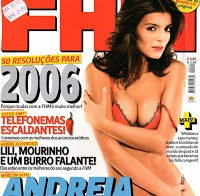 Andreia Rodrigues sensual de lingerie (FHM 2006)