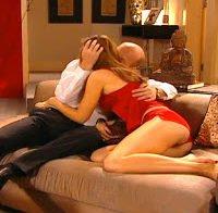 Actriz Cristina Câmara de lingerie (2005)