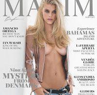 Nina Agdal posa nua para a Maxim