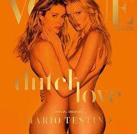 Doutzen Kroes e Lara Stone nuas na Vogue