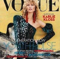 Karlie Kloss esteve na Vogue australiana com brincos orientais