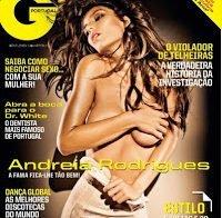 Andreia Rodrigues topless na capa da GQ (2011)