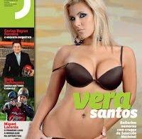 Vera Santos de lingerie e topless (Revista J 2010)