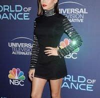 Jenna Dewan sexy em vestido curto