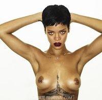 Rihanna posa em topless para o novo album