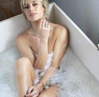 Actriz brasileira Paolla Oliveira na banheira (Novembro 2017)