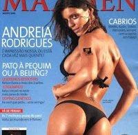 As mamas de Andreia Rodrigues topless (Maxmen 2008)