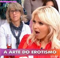 Cristina Ferreira excitada com produtos eróticos