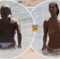 Raquel Loureiro topless na praia (2013)